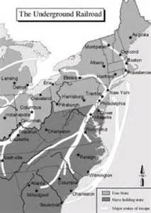 the underground railroad map black history