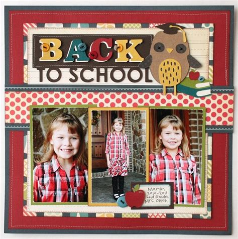 scrapbook layout for school picture 10 back to school scrapbook layouts scrap booking