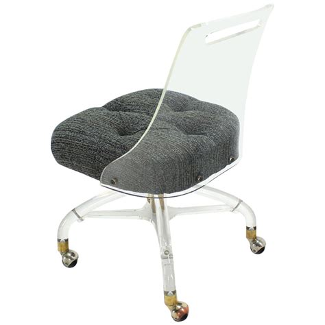 Modern Desk Chair Mid Century Modern Lucite Desk Chair At 1stdibs