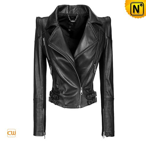 motorcycle jacket design online zipper pleated sewing black leather motorcycle jackets for