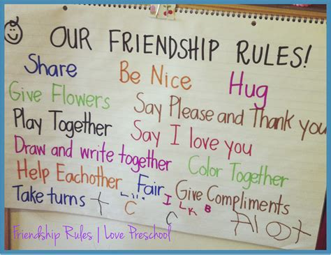 story themes about friendship setting up rules in a preschool classroom friendship