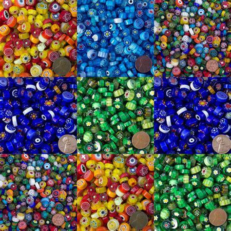 mille fiori millefiori glass mud turtle mosaic 8mm 12mm