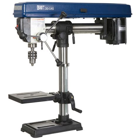 bench top drill rikon 34in 1 3hp radial benchtop drill press from buymbs com