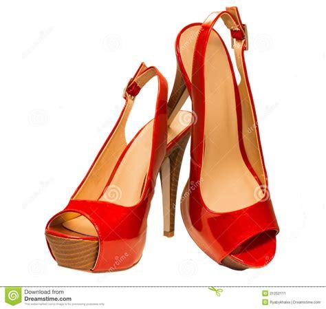 imagenes de sandalias rojas sandalias rojas imagen de archivo imagen 21252111