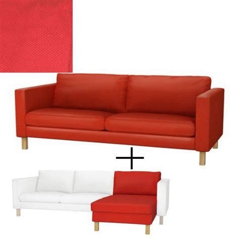 slipcover for couch with chaise ikea karlstad 3 seat sofa and chaise slipcover cover