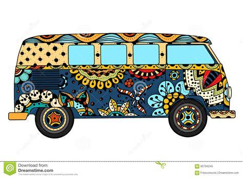 van in zentangle style stock vector image 65794245