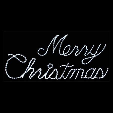 merry christmas light signs 32 in outdoor led white merry sign lighted display 300 bulbs walmart