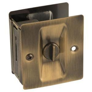 Home Depot Pocket Door Hardware by National Hardware Antique Brass Pocket Door Latch V1951