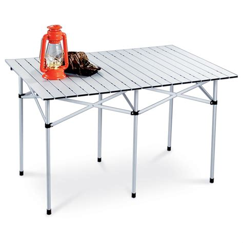 Guide Gear 174 Xl Aluminum Roll Top Table 172574 Tables Roll A Table