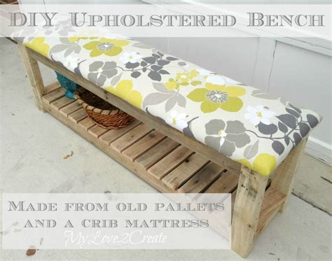 diy padded bench diy upholstered bench my love 2 create repurposed