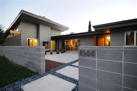 modern concrete home plans modern concrete home plans with fence modern house plan