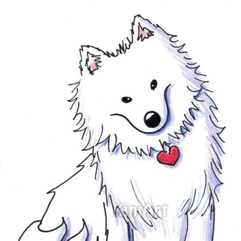american eskimo original art illustration by kim niles