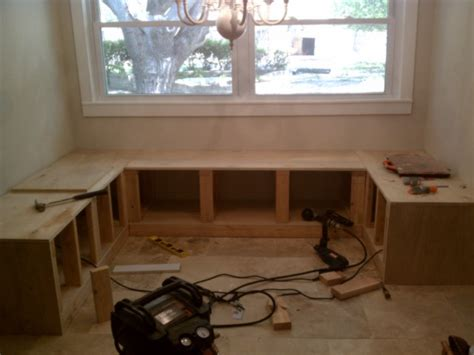 built in bench seating for kitchen build it bench seating for the kitchen nook the nook
