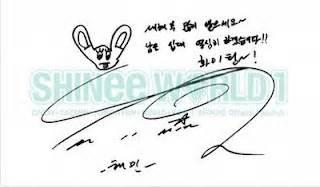 Kaos Shinee Shinee Signature 1 all about k pop shinee signature