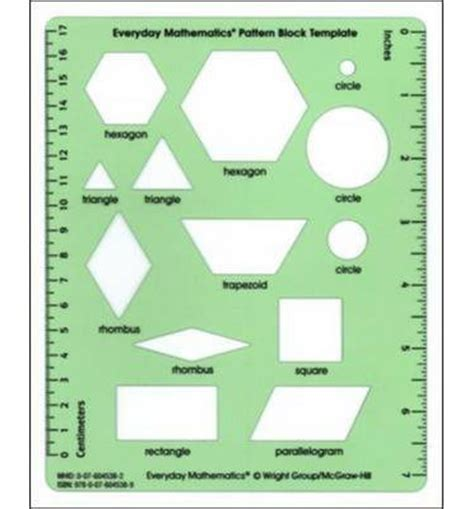 geometry template everyday mathematics everyday mathematics grades 1 3 pattern block template