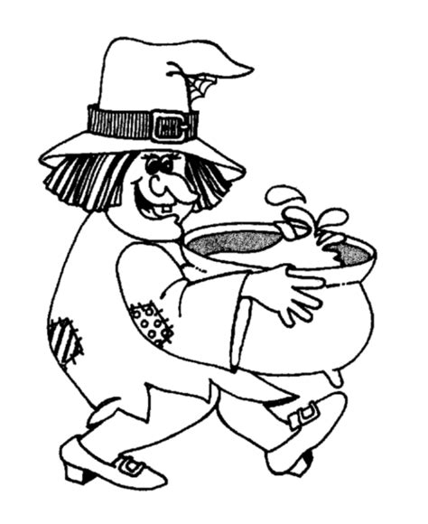 witch cauldron coloring page kids page halloween witch old lady and cauldron