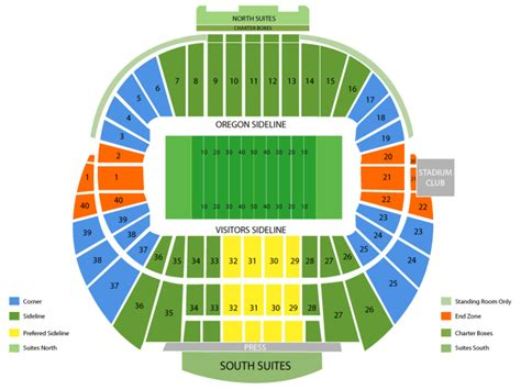 autzen stadium seating pin autzen stadium tickets seating chart on
