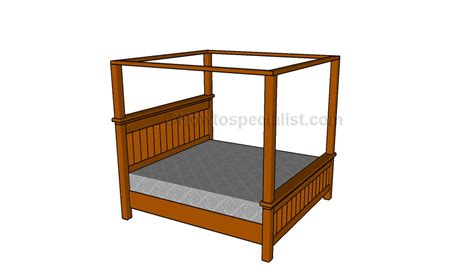 how to build a canopy bed how to make a bed canopy howtospecialist how to build step by step diy plans