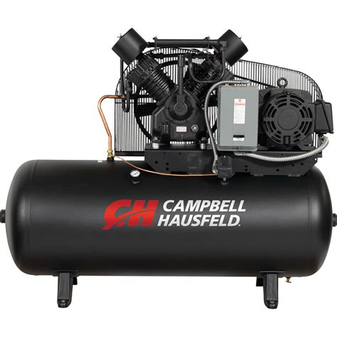 free shipping cbell hausfeld two stage air compressor 15 hp 50 cfm 175 psi 208 230