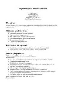 cabin crew skills flight attendant resume monday resume