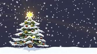 christmas tree in snow motion background videoblocks