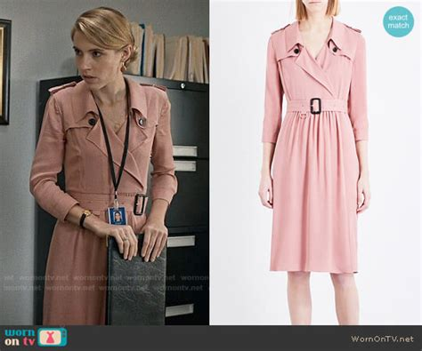 Dress Agatha Gamis Agatha wornontv stevie s pink trench dress on madam