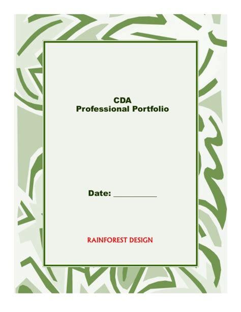 cda portfolio template cda prep binder preschool