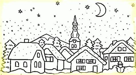 imagenes invierno para pintar postales con paisaje de invierno para colorear im 225 genes