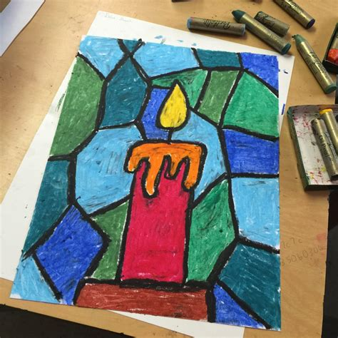 Craft Drawing Paper - pastel candle drawing projects for