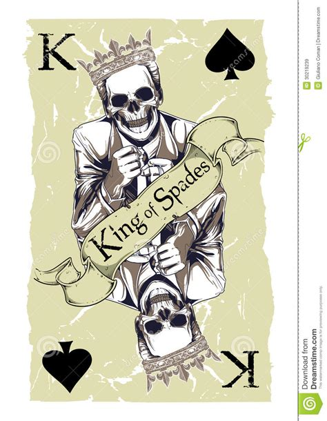 king of spades royalty free stock images image 30219239