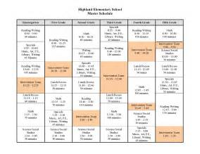search results for elementary timetable template
