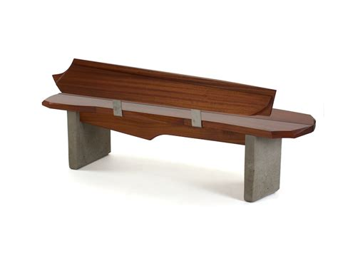 concrete and wood bench nico yektai outdoor bench 5 wood and concrete bench