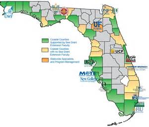 Universities In Florida Map by Participating Institutions Florida Sea Grant