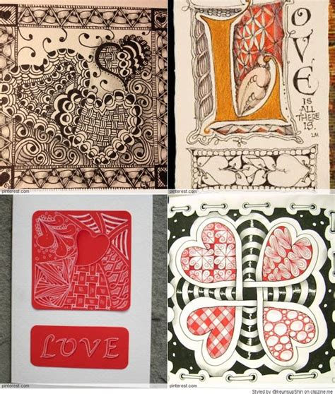S Day Zentangle 17 Best Images About Zentangle Cards On