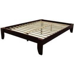 Wooden Bed Frame Dimensions Size Platform Bed Frame In Mahogany Wood Finish