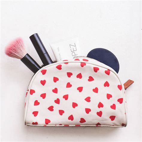 Pouch Make Up hearts make up bag by alphabet bags notonthehighstreet