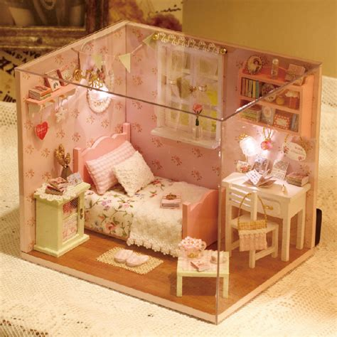 diy wooden miniature doll house furniture miniatura