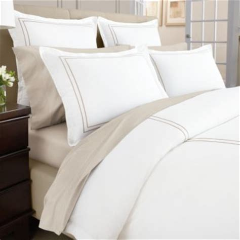 Taupe Duvet Wamsutta 174 Baratta Stitch Micro Cotton 174 Duvet Cover In