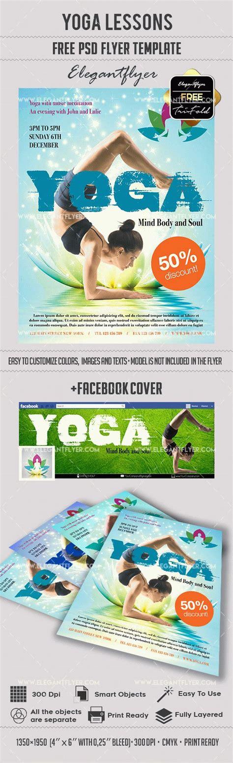 Yoga Lessons Psd Flyer By Elegantflyer Flyer Template Psd 2