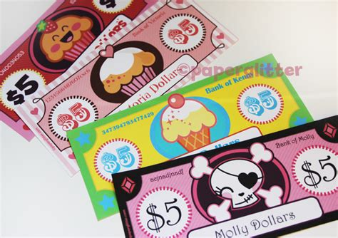 Who Makes Paper Money - free printable printable kawaii paper crafts