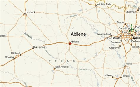 texas map abilene abilene location guide