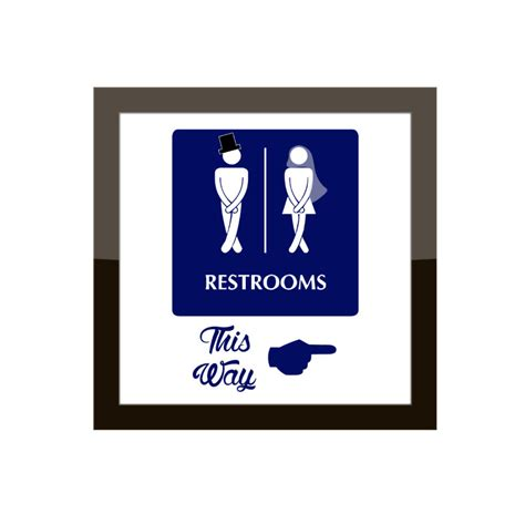 bathroom wedding sign funny directional bathroom sign wedding event by ashalamode