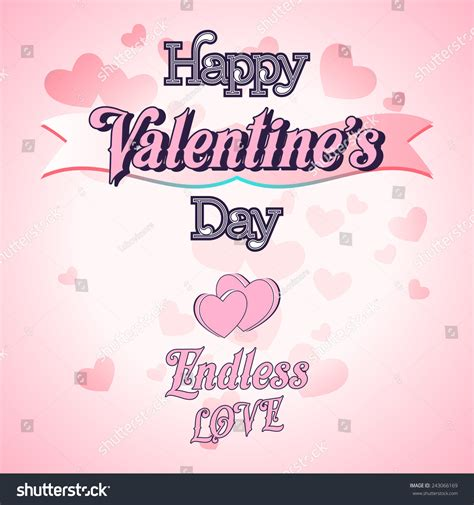happy valentines day lettering happy valentines day lettering greeting card stock vector