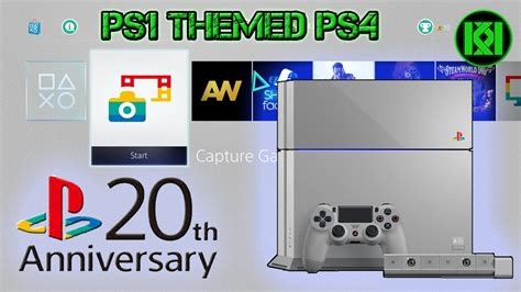 ps4 themes 20th anniversary ps1 theme on ps4 new ps1 styled ps4 console playstation