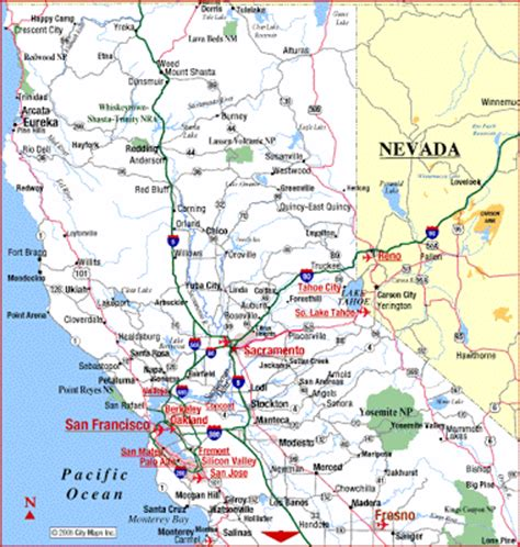 northern california coastal map map of northern california area pictures california map