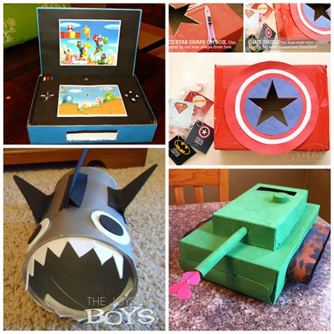 Boy Box Decorating Ideas by Awesome Card Boxes Boys Will Crafty Morning