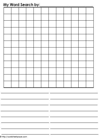 How To Make A Wordsearch On Paper - blank word search worksheets