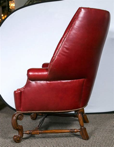 Oversized Tufted Chair by Pair Of Oversized Tufted Leather Wingback Chairs For Sale