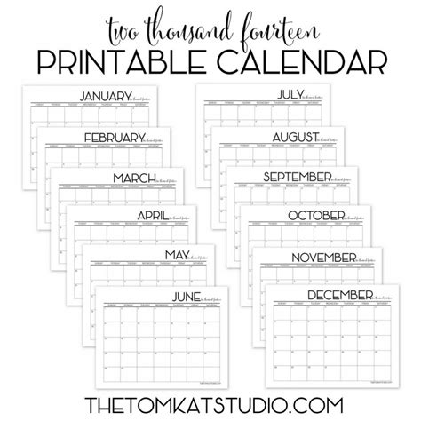 6 best images of free printable monthly calendars to print