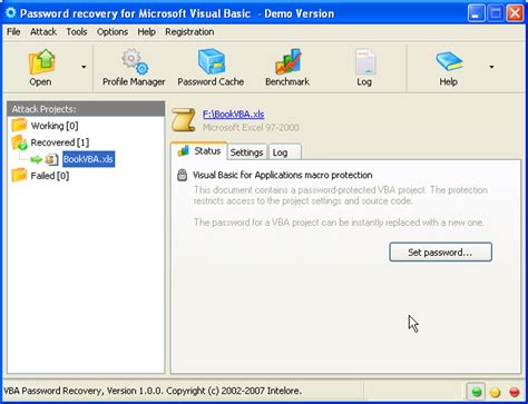 remove vba password access 2003 vba password recovery for visual basic projects